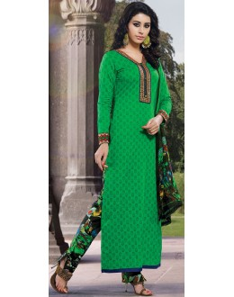 Latest New Green Designer Straight Cut Unstitched Salwar Suit-FA265-776(FFH-FA265)