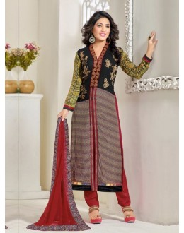 Party Wear Multicolor Georgette Churidar Suit - FA357-81000