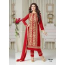 Ayesha Takia Designer Unstitched Heavy Embroidered Red Straight Salwar Suit-FD144-120 ( FFH-FD144 )