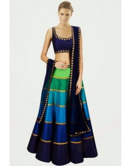 Designer Multi-Colour Georgette Party Wear Lehenga Choli -  FL116-1011 ( FL116 )