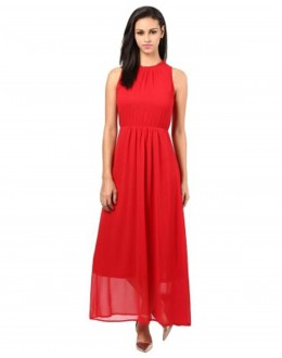 Fancy Readymade Red Western Wear Dress - Fk109-1503
