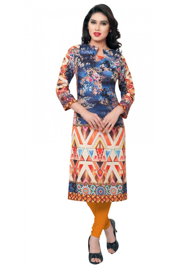Casual Wear Multicolour Kurti - FK114-101