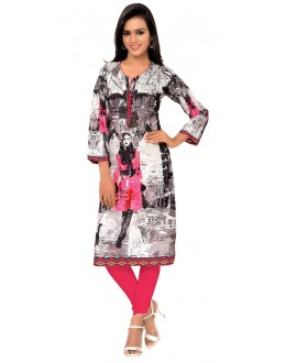 Casual Wear Multicolour Kurti - FK114-103