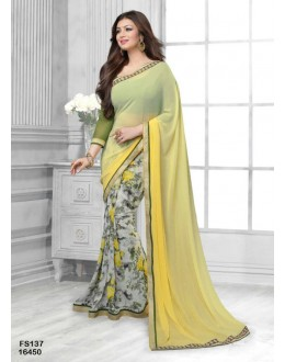 Ayesha Takia Designer Multi Colour Pure Georgette Half & Half Party Wear Saree - FS137-16450 ( FFH-FS137 )