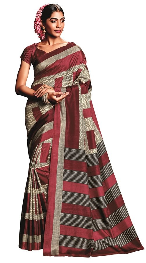 Party Wear Multicolour Art Silk Saree  - RKVIKI9338