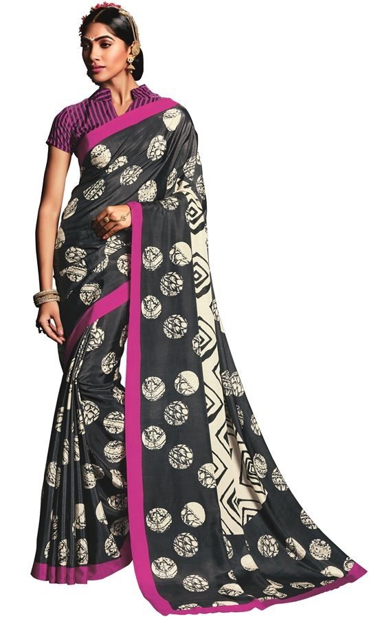 Casual Wear Multicolour Art Silk Saree  - RKVIKI9339