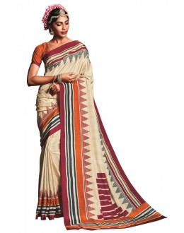 Casual Wear Multicolour Art Silk Saree  - RKVIKI9350