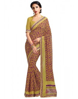 Ethnic Wear Brown Georgette Saree  - RKAM6612