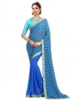 Casual Wear Multi-Colour Georgette Saree  - RKAM6619