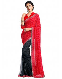 Casual Wear Multi-Colour Georgette Saree  - RKAM6629