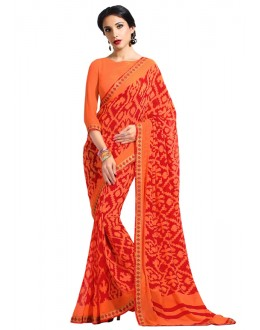 Casual Wear Multi-Colour Georgette Saree  - RKAM6638