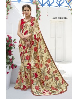Casual Wear Multi-Colour Georgette Saree  - RKLP4632