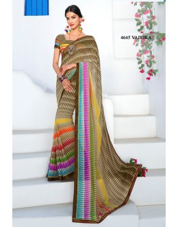 Casual Wear Multi-Colour Georgette Saree  - RKLP4645