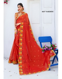Party Wear Red Georgette Saree  - RKLP4647