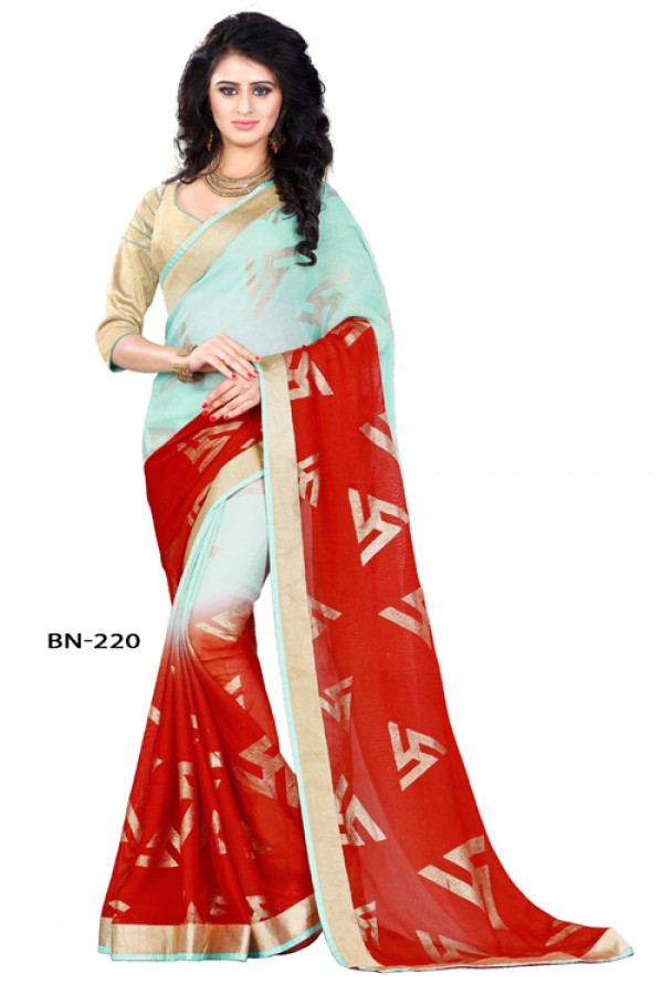 Ethnic Wear Multi-Colour Jute Silk Saree  - BN-220