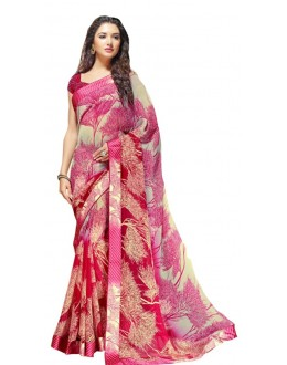 Festival Wear Multicolour Georgette Saree  - RKSALS624