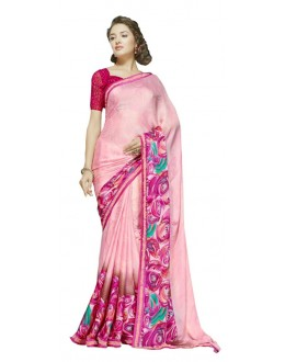 Festival Wear Pink & Purple Georgette Saree  - RKSALS630