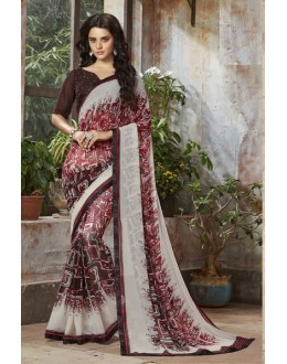 Casual Wear Multi-Colour Georgette Saree  - RKSALS809