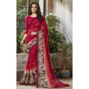 Festival Wear Red Georgette Saree  - RKSALS817