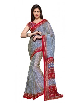 Party Wear Multicolour Chiffon Saree - RKSG1540A