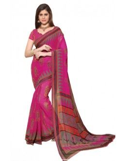 Party Wear Pink Chiffon Saree - RKSG1541A