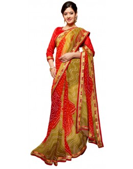 Party Wear Multicolour Georgette Saree - RKSG1546