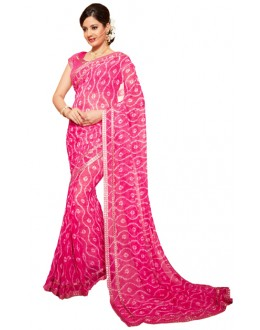 Party Wear Light Pink Georgette Saree - RKSG1550