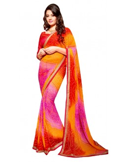 Party Wear Multicolour Georgette Saree - RKSG1551