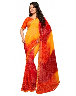 Party Wear Multicolour Georgette Saree - RKSG1558