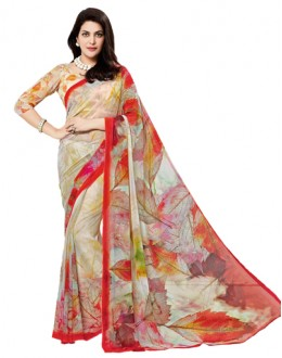 Casual Wear Multi-Colour Georgette Saree - RKTMEV810