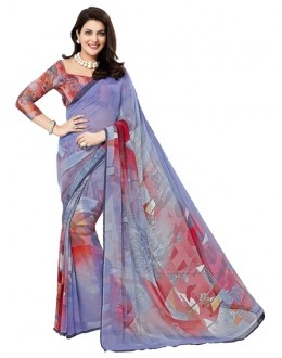 Casual Wear Multi-Colour Georgette Saree - RKTMEV812