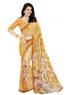Ethnic Wear Yellow Georgette Saree - RKTMEV824