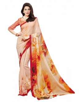 Ethnic Wear Orange Georgette Saree - RKTMEV826