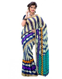 Ethnic Wear Multicolour Cotton Silk Saree  - RKVI7012