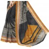 Casual  Wear Black Cotton Silk Saree  - RKVI4012
