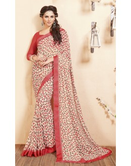 Multi-Colour Georgette Printed Saree  - RKVSL7378