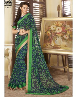 Multi-Colour Georgette Printed Saree  - RKVSL7885