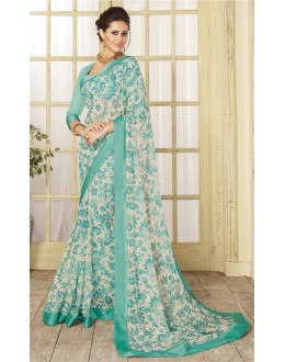 Georgette Multi-Colour Printed Saree  - RKVSL8359
