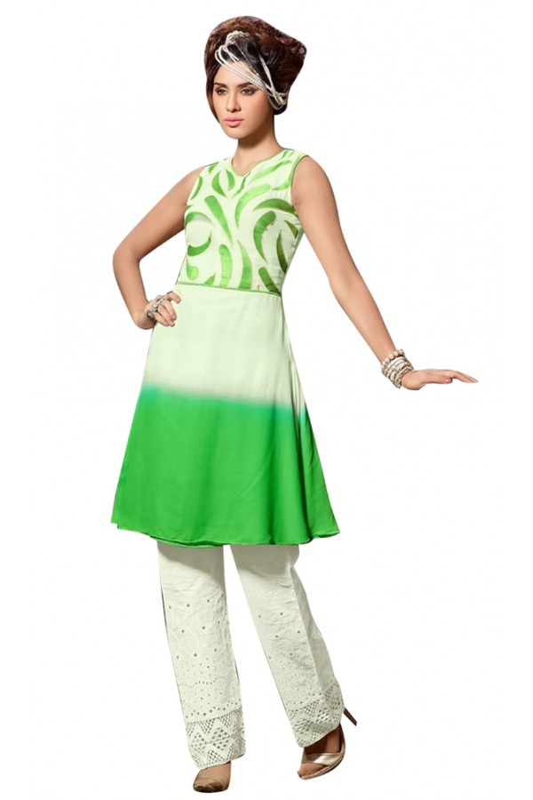 Fancy Readymade Multicolour Georgette Kurti - 60007