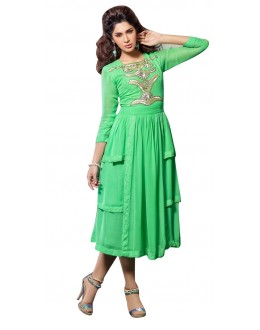 Fancy Readymade Green Georgette Kurti - 60010