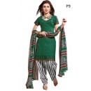 Casual Wear Multicolour Cotton Salwar Suit - P9