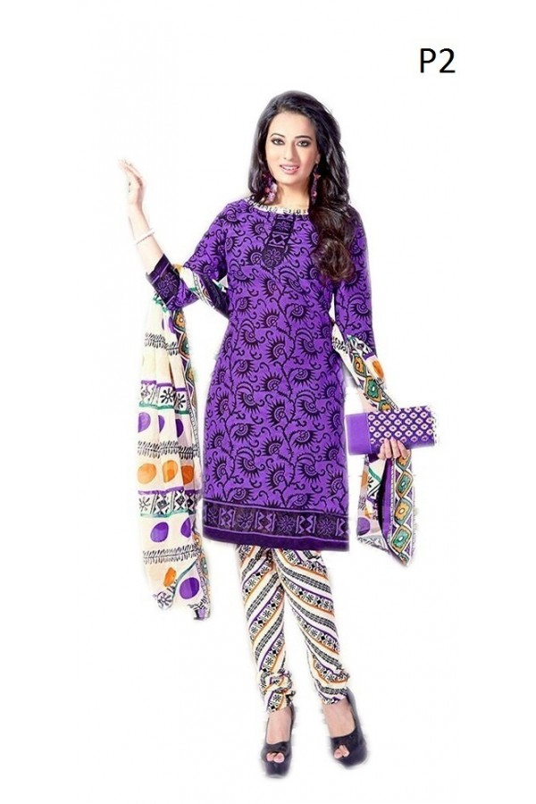 Casual Wear Multicolour Cotton Salwar Suit - P21