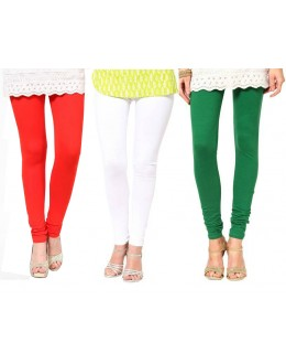 Party Wear Tri Color Legging Combo -105
