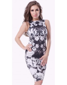 Fancy Readymade Black & White Western Dress - Zenny-3