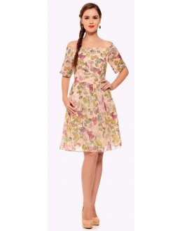 Party Wear Readymade Cream Western Dress - Zenny-5