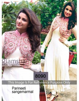 Bollywood Replica - Parineeti Chopra Velvet White Color Suit - 1039