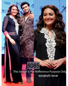 Bollywood Replica - Sonakshi Sinha Georgette Black Color Suit - GC-8085 (IB-645)