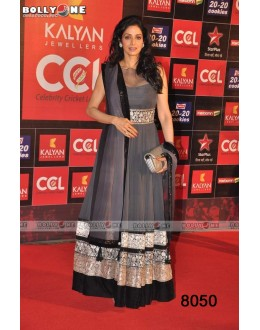 Bollywood Replica - Sridevi Net Georgette Grey Color Anarkali Suit - GC-8050 (IB-645)