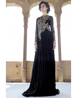Designer Black Resham Embroidered Net Party Wear Gown - JOM2891110 ( Jom-9900-J9900 )