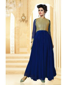 Designer Blue Resham Embroidered Net Party Wear Gown - JOM2891121 ( Jom-9900-J9900 )